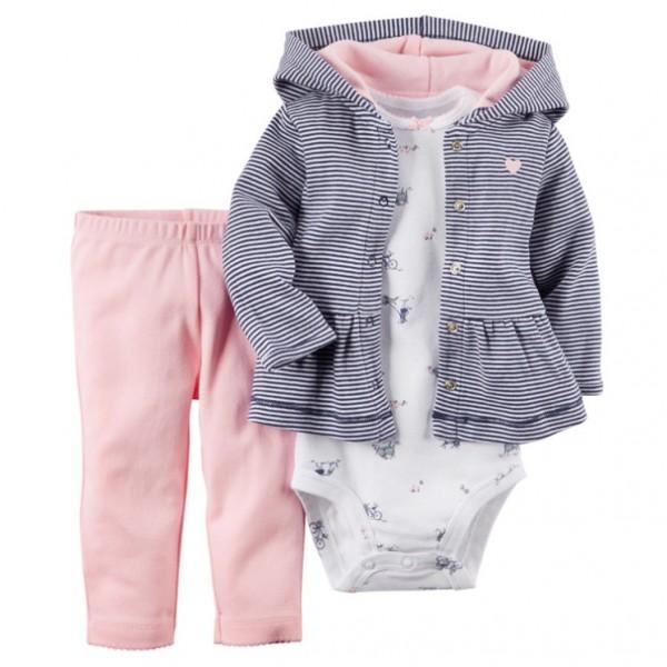 Комплект от 3 части за бебе с леко яке