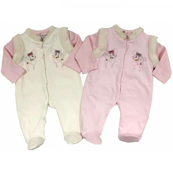 Бебешки комплект гащеризон и блузка Cutie Pie