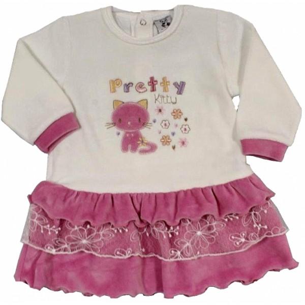 Плюшена бебешка рокля Pretty Kitty Cutey Pie