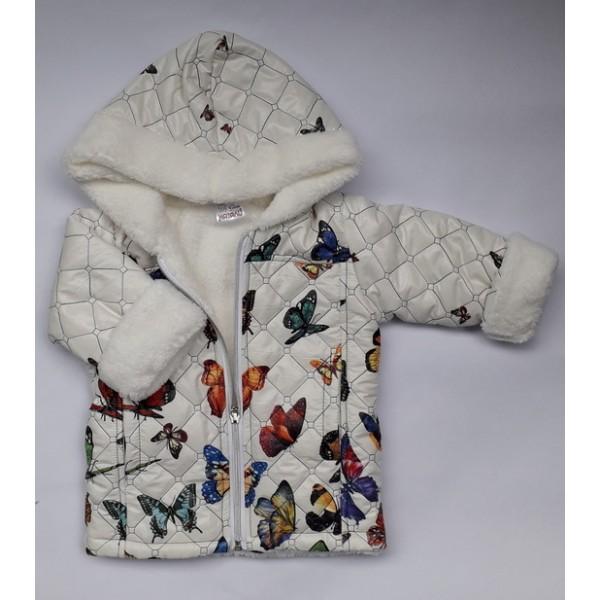 Капитонирано бебешко яке с пеперуди Натали и Ко ООД