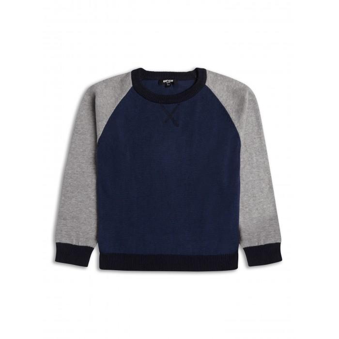 Пуловер в тъмносиньо и сиво