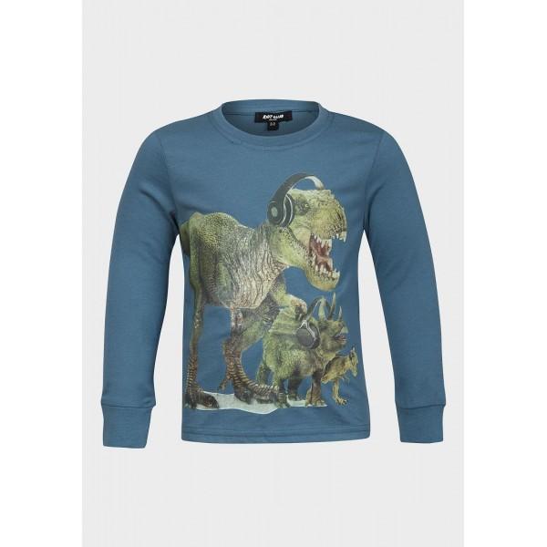 Блузка с дълъг ръкав Динозаври Riot Club цвят петрол