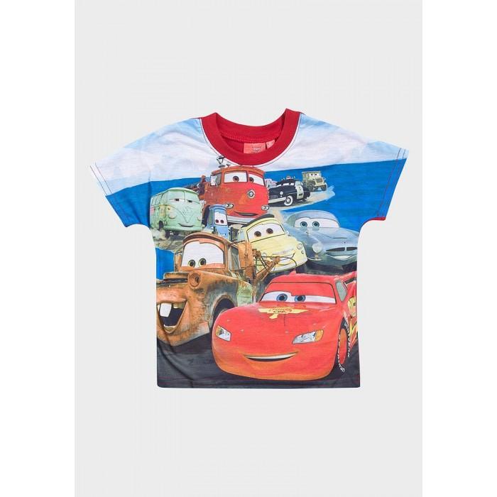 Блуза с къс ръкав Cars Disney червена