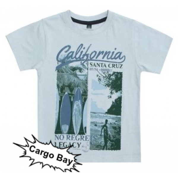 Блуза с къс ръкав за момче California Cargo Bay