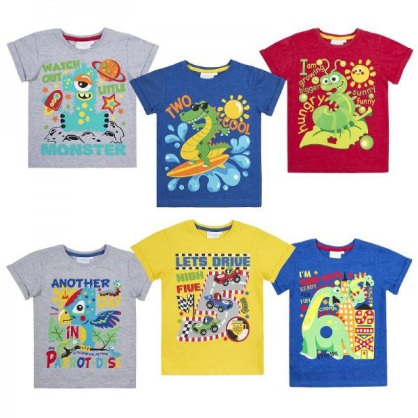 Тениска за момче с цифра 1-6г. Mini Kidz