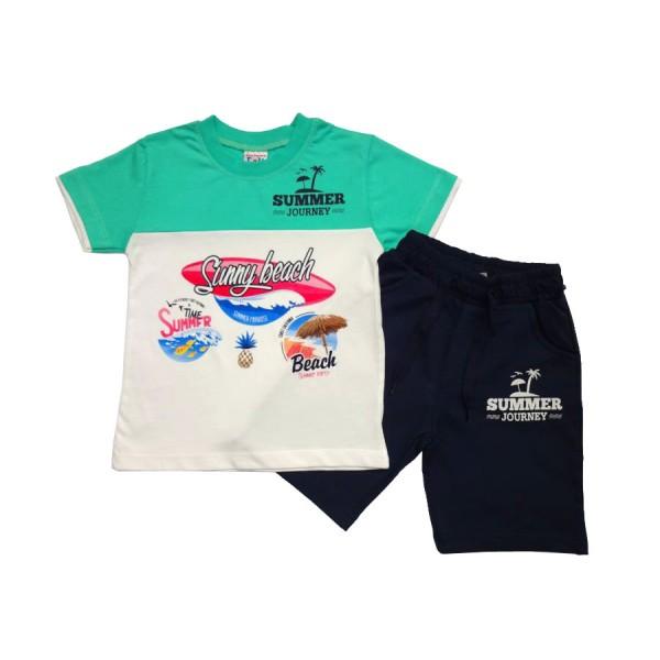Комплект тениска с къси панталонки Sunny Beach