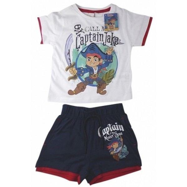 Комплект от две части Captain Jake Disney Бял