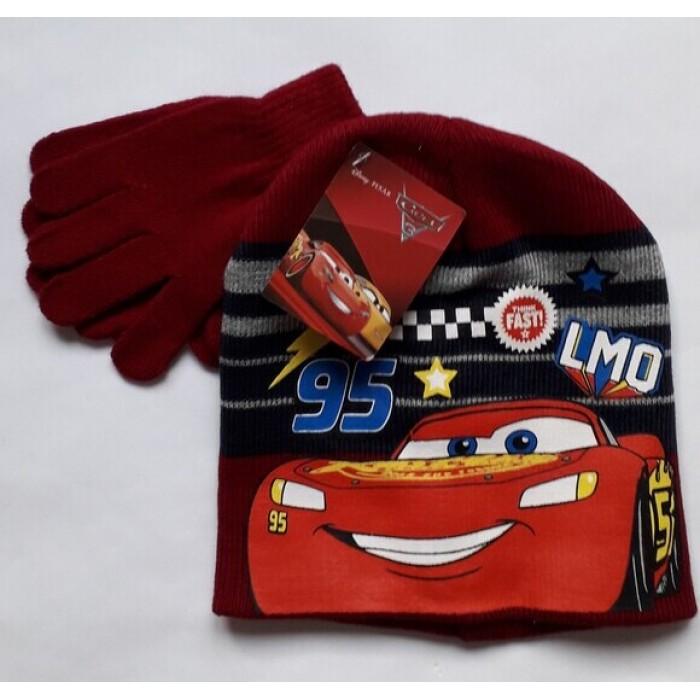 Комплект за момче шапка и ръкавици Макуин в червено