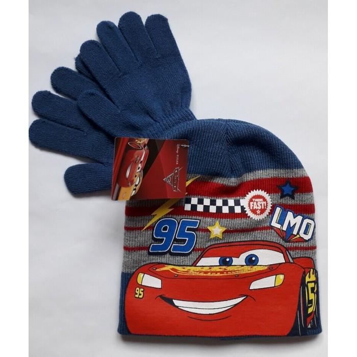 Комплект за момче шапка и ръкавици Макуин в синьо
