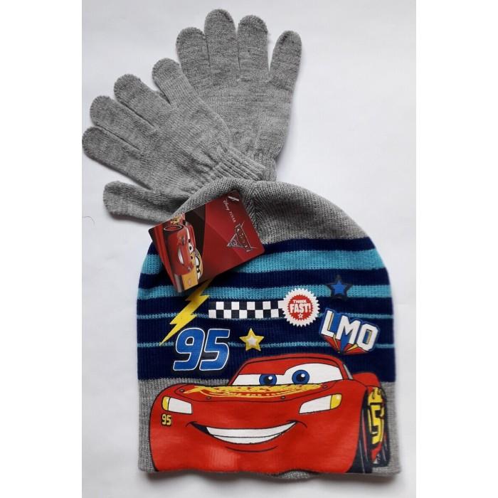 Комплект за момче шапка и ръкавици Макуин в сиво