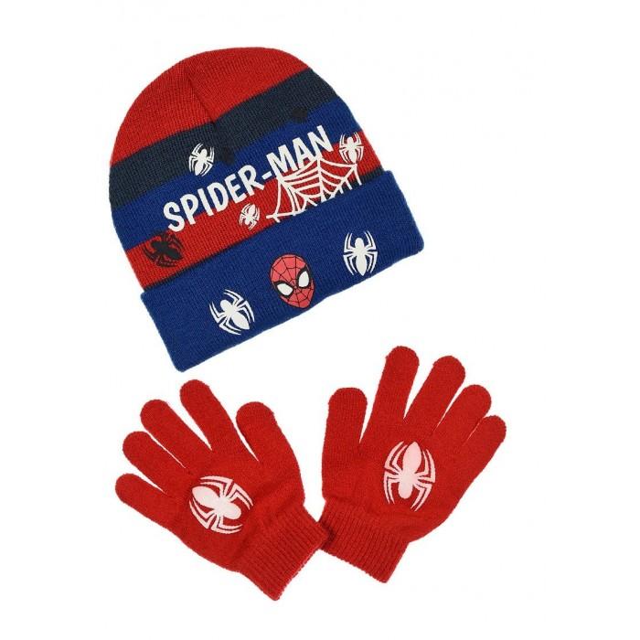 Комплект за момче шапка и ръкавици със светлоотразителни елементи Спайдърмен