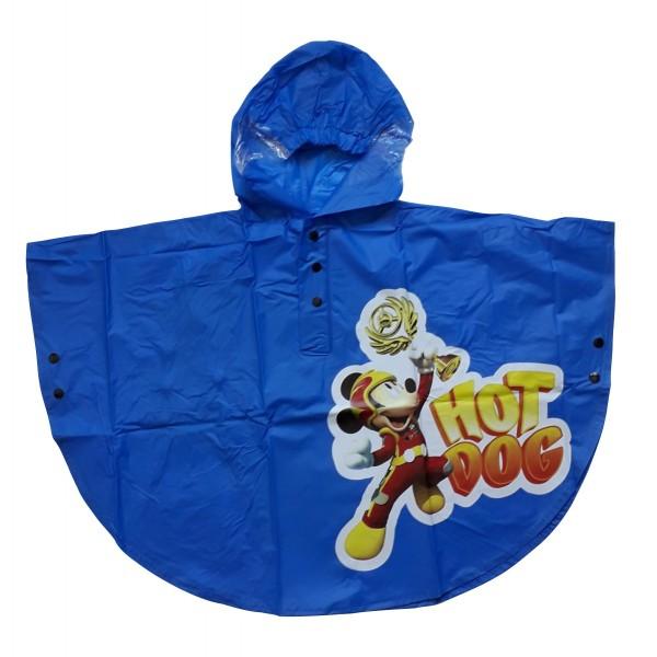 Пончо за дъжд за момче с Мики в синьо