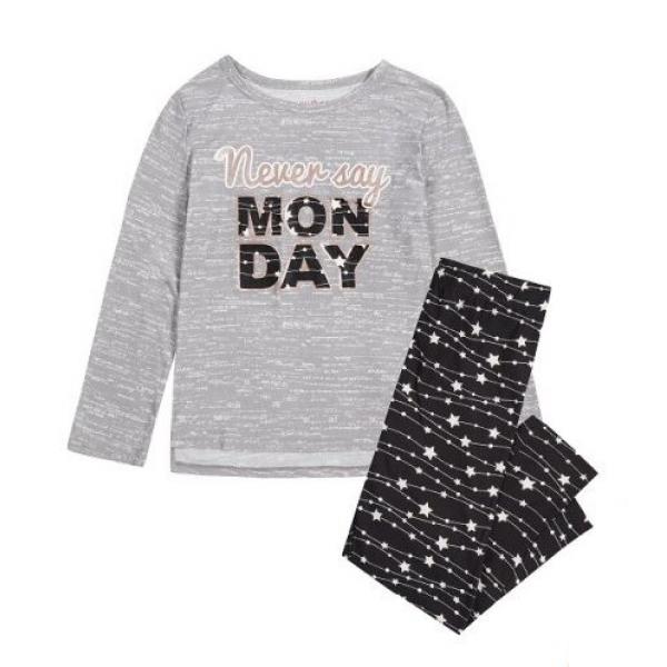 Пижама за  момиче Never Say Monday сива Delia's Girl