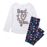 Пижама за момиче Bed I Love You бяла Delia's Girl