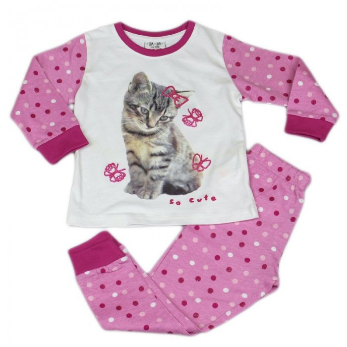 Пижама за момиче с коте Jam Jam