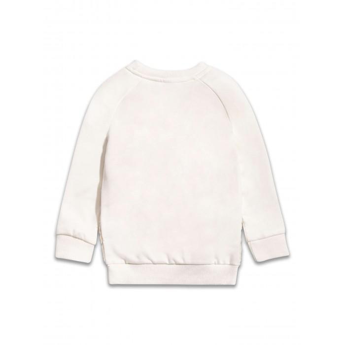 Бял пуловер с пухкава муцунка Sugar Squad