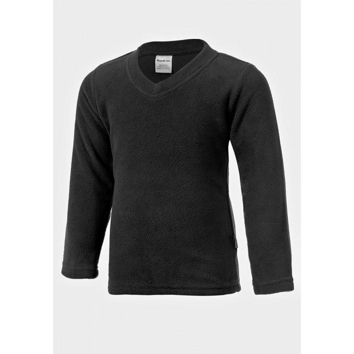 Поларена блуза с V-образно деколте Friends Inc черна