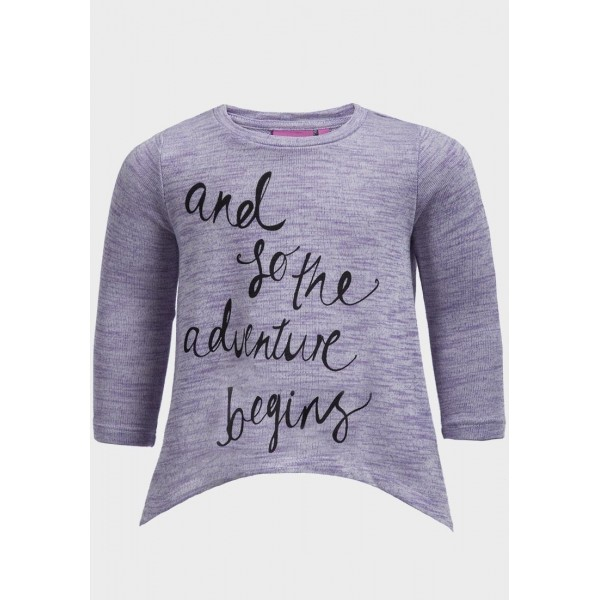 Блуза за момиче Adventure Begins Люляк