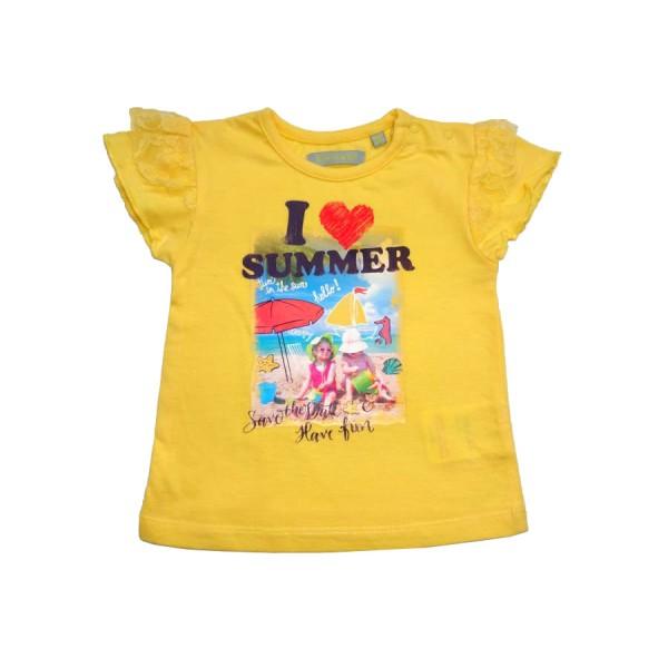 Жълта тениска I Love Summer