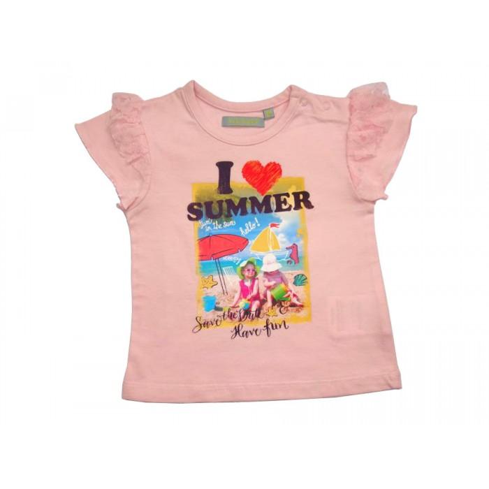 Розова тениска I Love Summer
