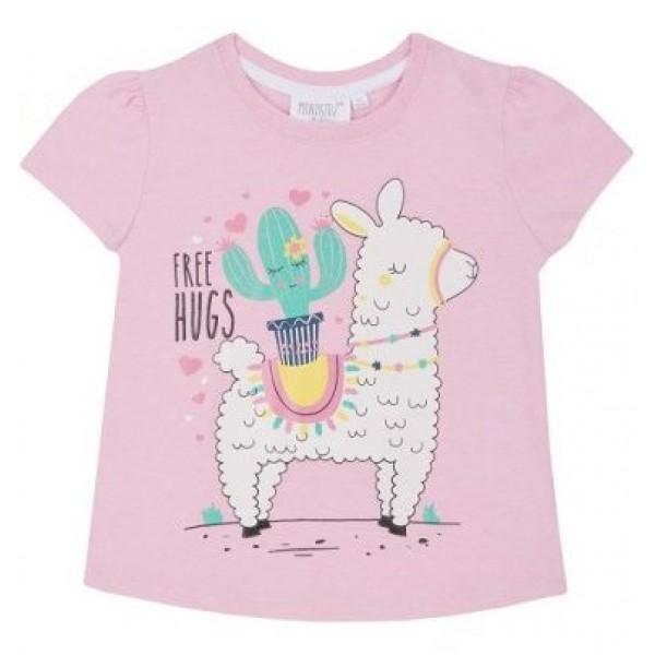 Блуза с къс ръкав за момиче Free Hugs Minikidz