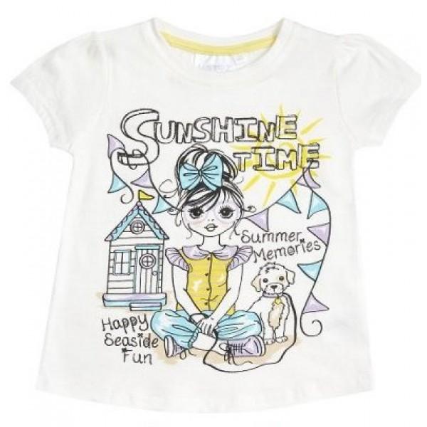 Блуза с къс ръкав за момиче Sunshine Time Minikidz