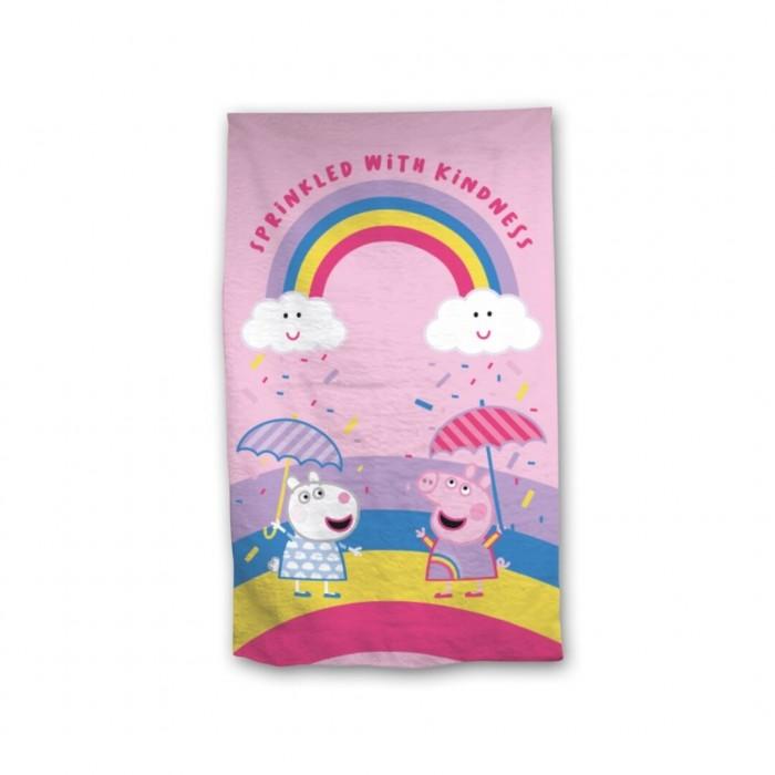 Кърпа за плаж с Прасенцето Пепа Rainbow