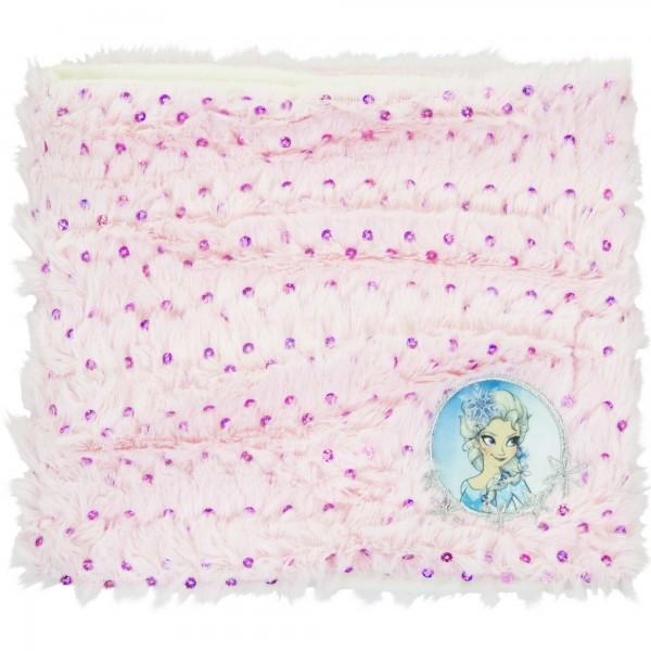 Шал-шапка-яка Frozen Disney розово-бял