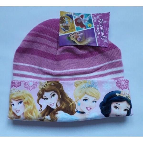 Зимна шапка за момиче с принцеси Disney в розово