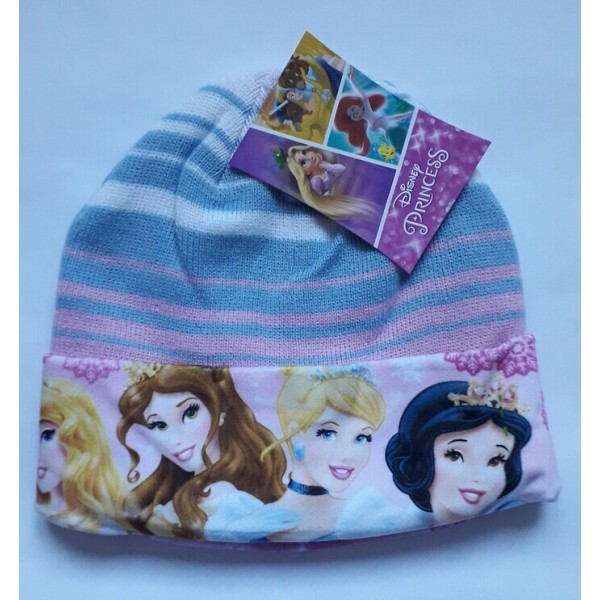 Зимна шапка за момиче с принцеси Disney в синьо