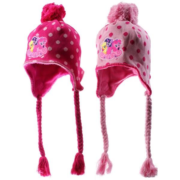 Зимна шапка с помпон за момиче с Малкото пони