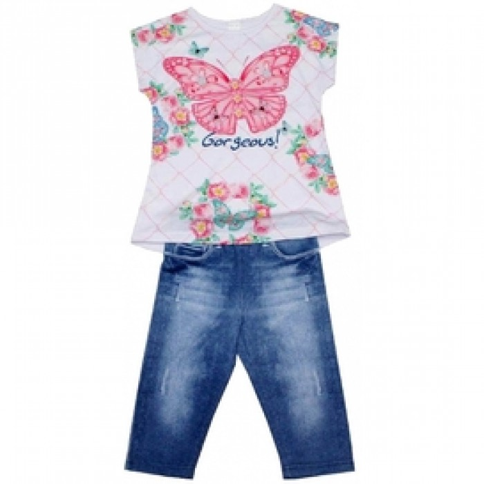 Комплект блузка и дънков клин Cutey Couture