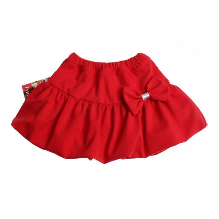 Червена пола балон с панделка