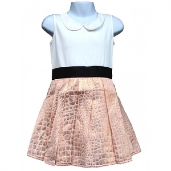 Официална рокля в кремаво и златисто Cool Candy