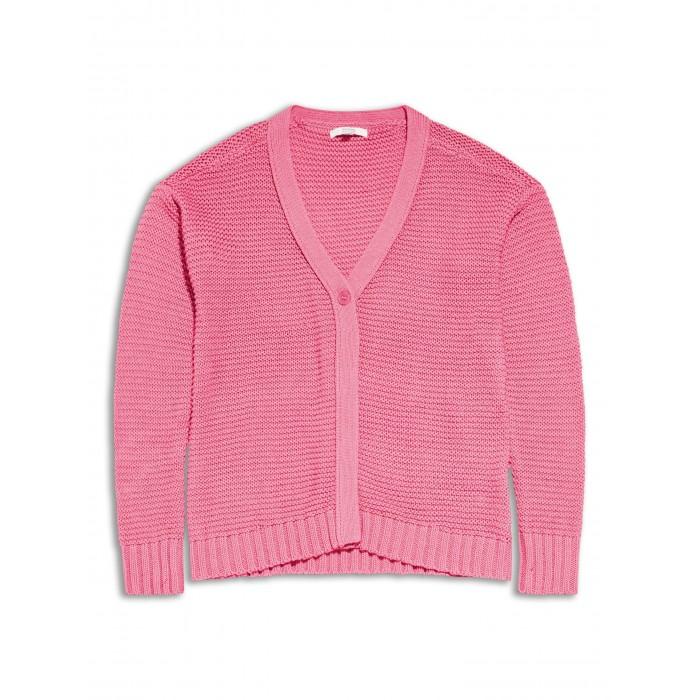 Плетена розова жилетка