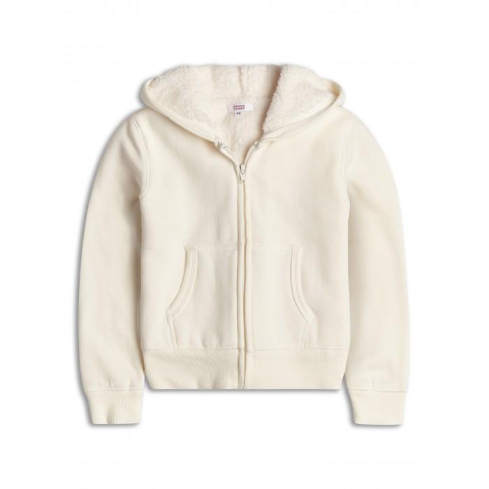 Бяло яке с качулка и подплата Sugar Squad
