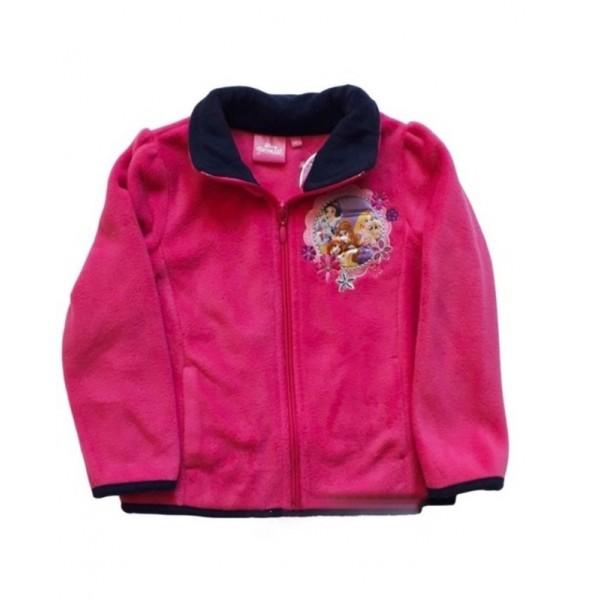 Поларено яке за момиче с принцеси Disney циклама